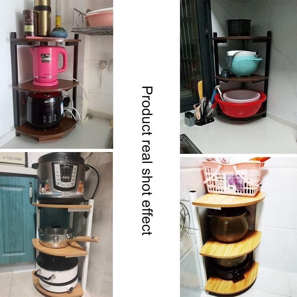 , delle Famiglie d'angolo Rack, controsoffitto della Cucina Rack di stoccaggio, 3 Strati BBGSFDC (Color : B) B