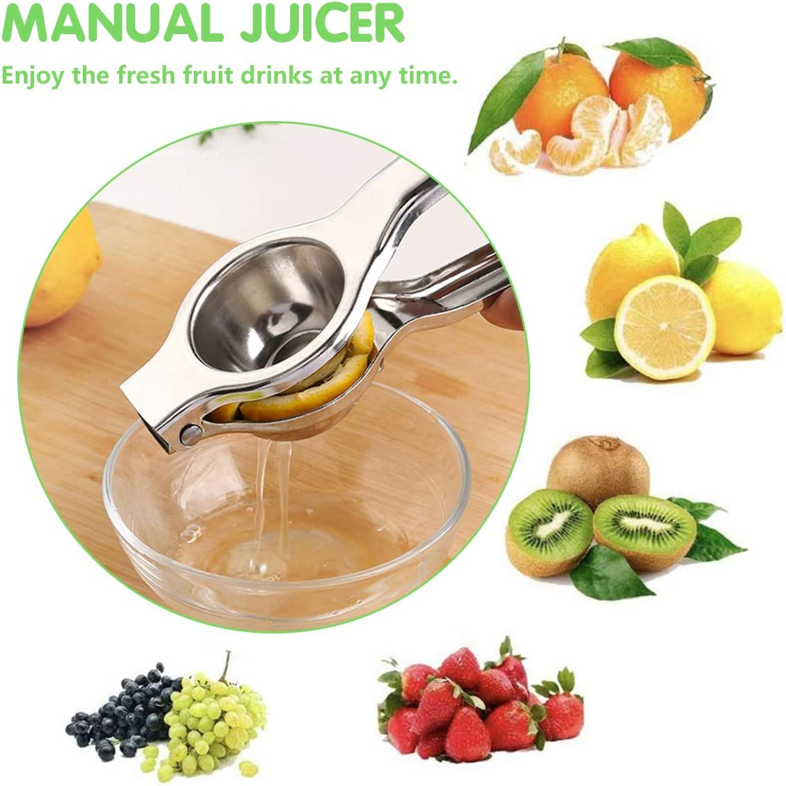 KEMOO Zitronenpresse manuell Orangen-Zitruspresse Saftpresse Einhand-Obstpresse Zitronenpresse Edelstahl Zitronenpresse