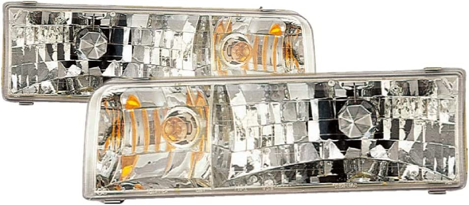 1995-1997 LINCOLN TOWN CAR Headlights Headlamps Left Right Sides Pair
