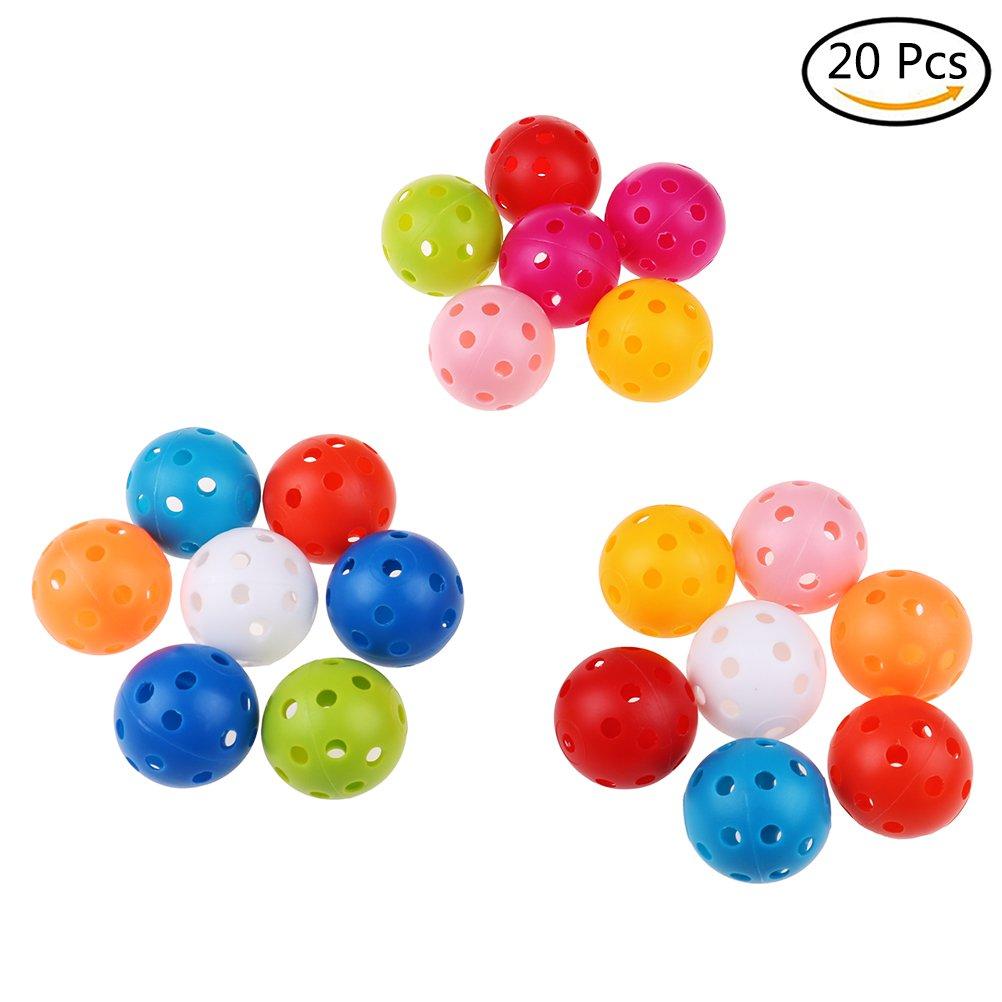 yiphates 20pcsミックスカラープラスチックゴルフ練習ボール。41 mmの直径   B07C96GZF2