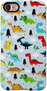 GOLINK Case for iPhone 7/iPhone 8/SE 2, Matte Finish Cute Series IMD Slim-Fit Anti-Scratch Shock Proof Anti-Finger Print Flexible TPU Gel Case for iPhone 7/8 4.7 inch Display-Dinosaur