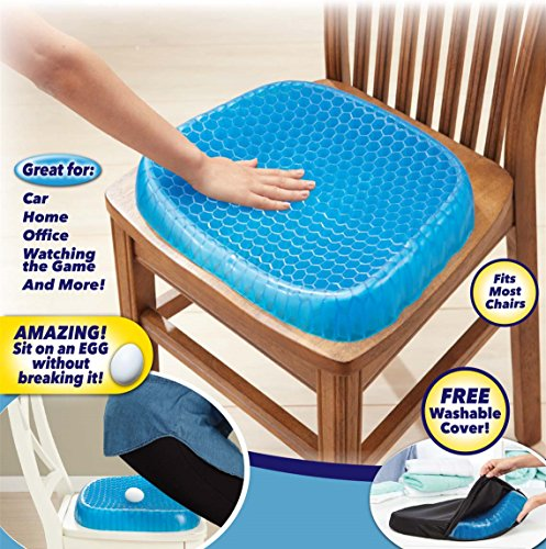 VIMEKA Egg Sitter Cool Seat Cushion Breathable Summer Cooling Pad, Honeycomb Elastic Relieve Fatigue Support Chair Pad for Office,Home, Car (Blue) by VIMEKA (Image #2)