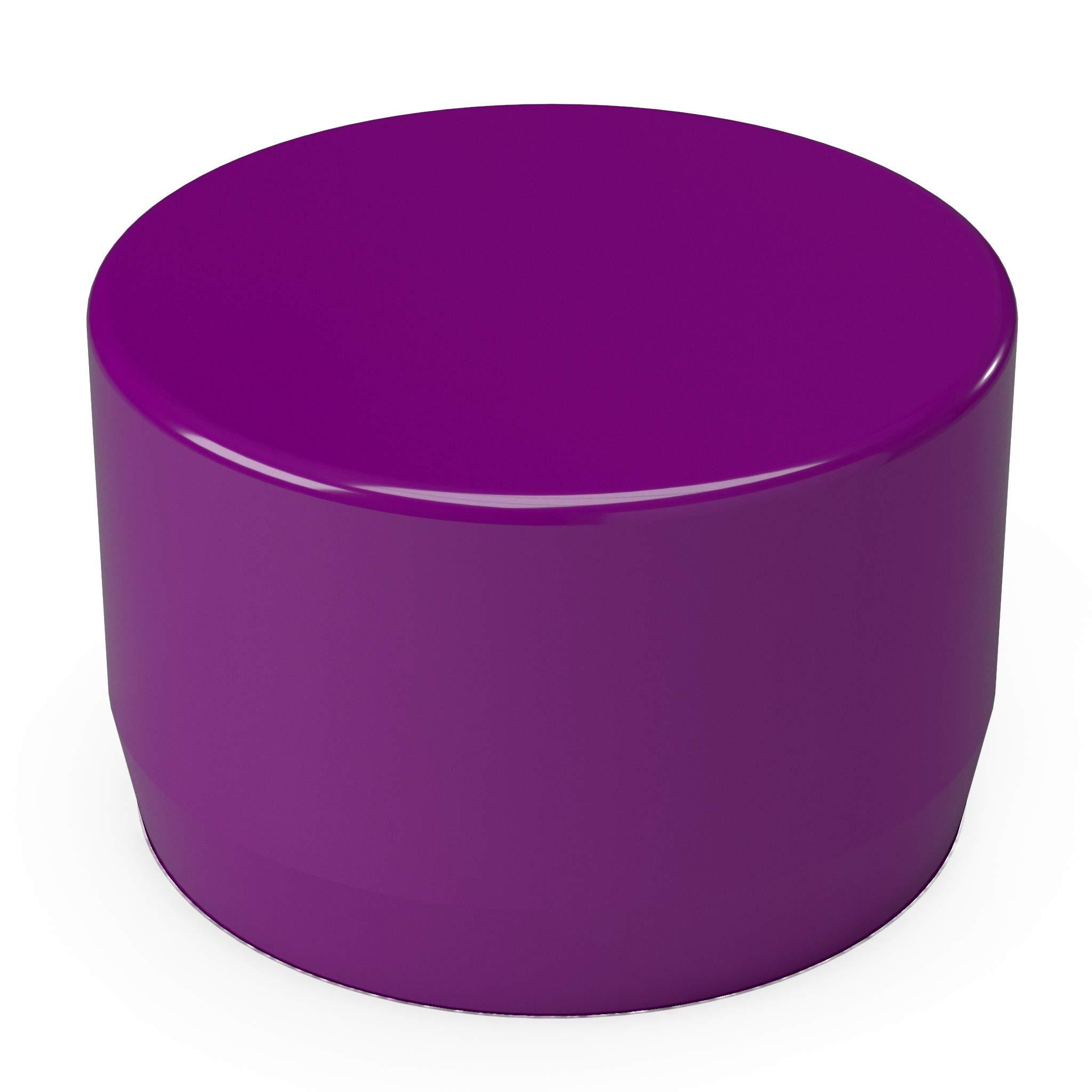 FORMUFIT F001EEC-PU-10 PVC External End Cap, Furniture Grade, 1'' Size, Purple (Pack of 10)