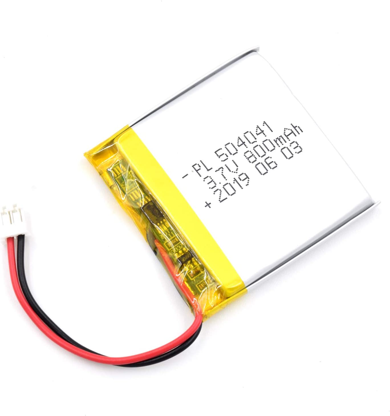 AKZYTUE 3.7V 800mAh 504041 Lipo Battery Rechargeable Lithium Polymer ion Battery Pack with JST Connector