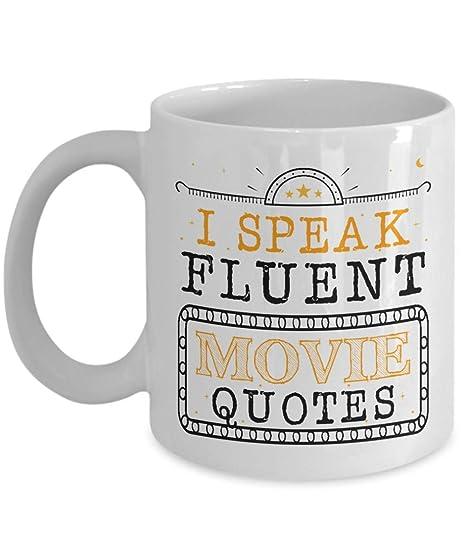 com funny novelty gift for movie lover i speak fluent