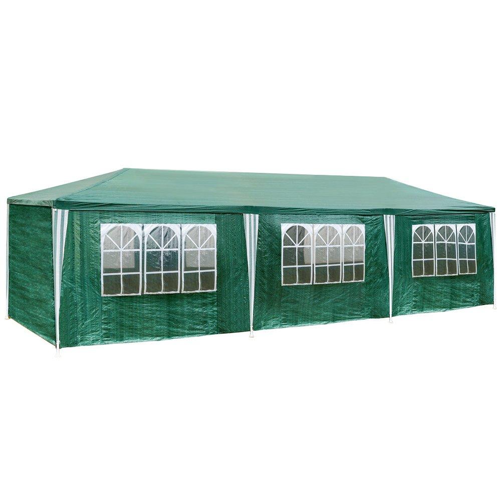 TecTake Tonnelle Tente Gazebo Pavillon de jardin d'ÉvÉnement biÈre pour fÊte de camping avec 8 parties latÉrales