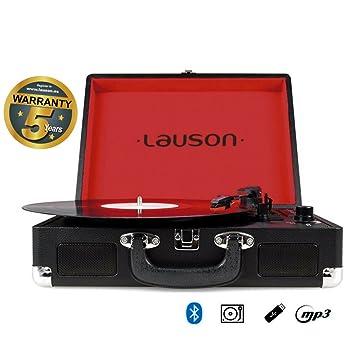 Lauson Tocadiscos Maletín, con función Bluetooth, USB, Salida RCA ...