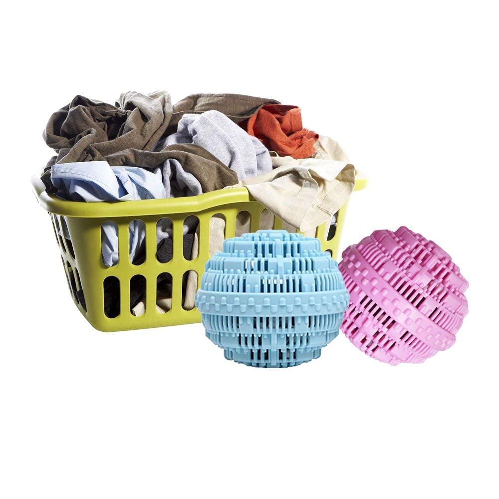 BERON Eco-Friendly Wash Ball Super Laundry Balls for 1500 Washings,Set of 2 Light Blue and Light Purple