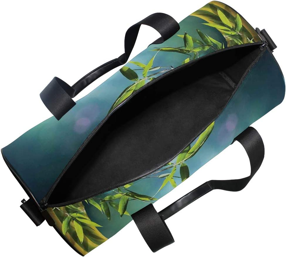Tree with Shapes Ambesonne Teal Gym Bag Large Weekender Carry-on