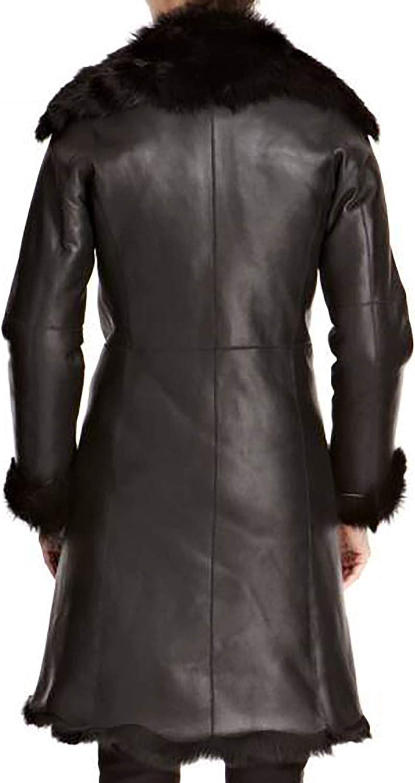 A to Z Leather Long Manteau pour Les Femmes avec Cascade. Disponible en Daim 3/4. Napa Noir Pas de Capot