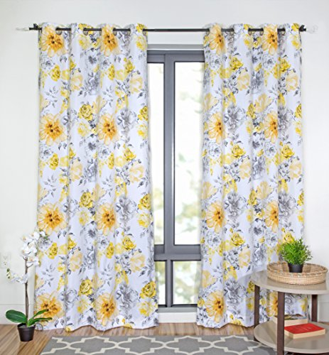 (WRGHOME Blooming Grommet Home Curtains 50