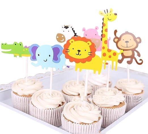 Decoración para tarta de cumpleaños con diseño de jirafa ...