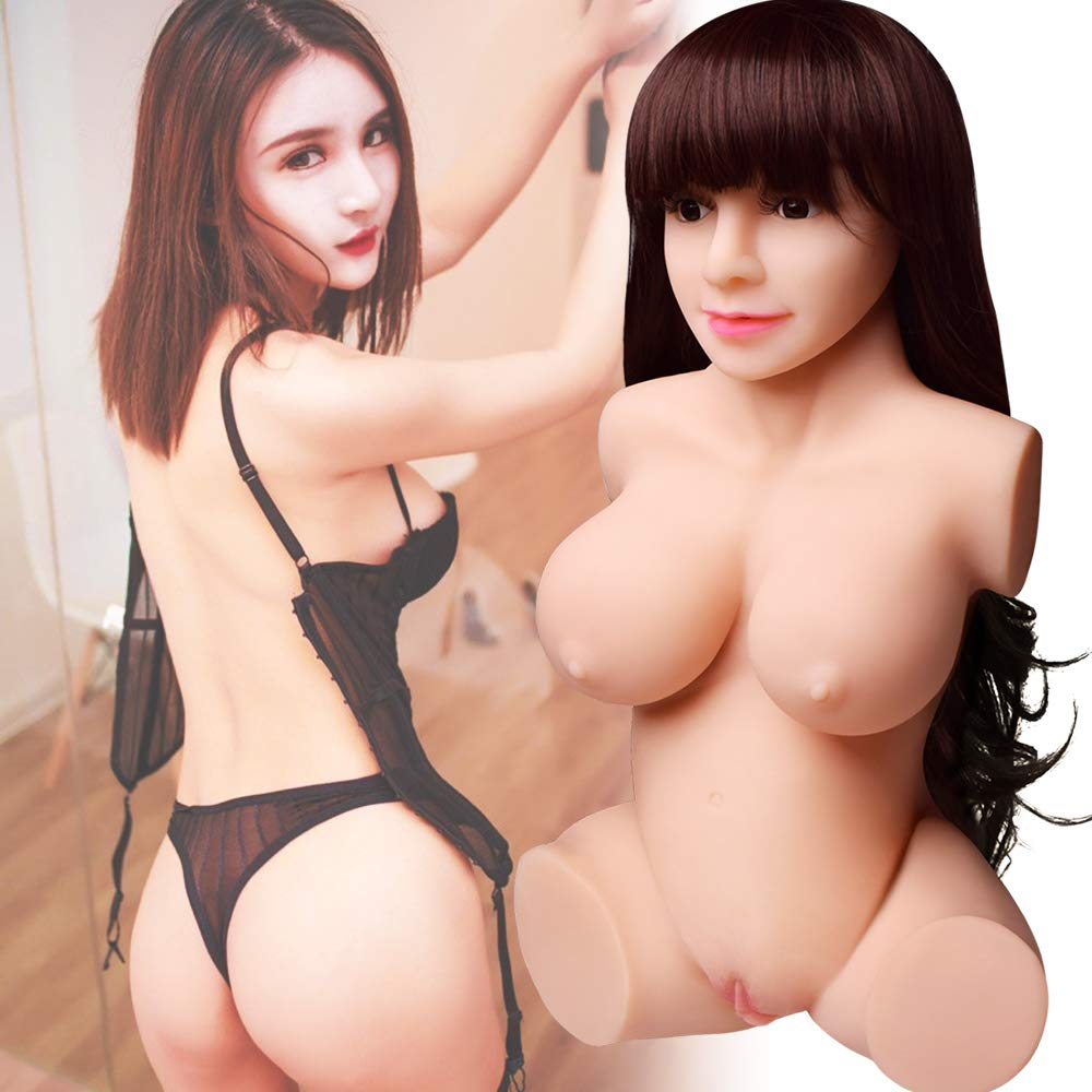 Life-Sized Realistic Woman Torso Silicone Dolls for Men Male Gift Toys with Natural Skin & Durable Skeleton