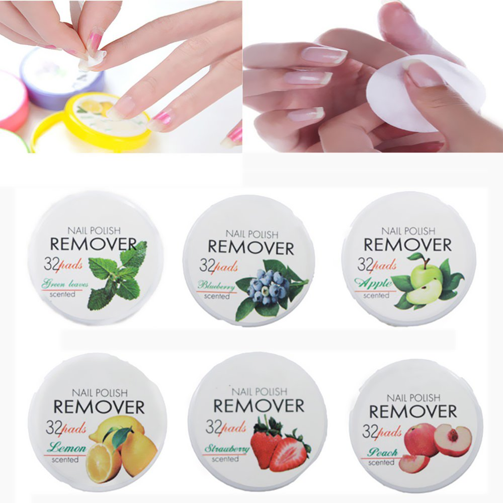 locia Nail Art Polish Remover 32 toallitas húmedas Pads Papel Toalla Limpieza frutas aromas: Amazon.es: Belleza