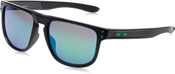Oakley R 937703 Holbrook Gafas de sol, Negro (Black Ink)/Verde (Prizm Jade), 55 para Hombre
