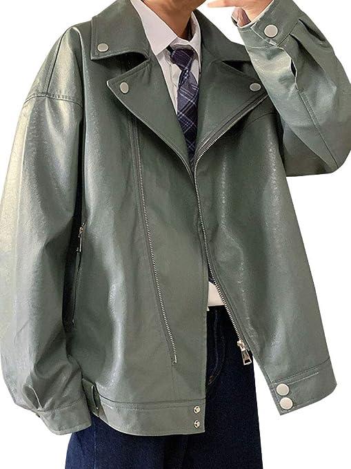 [ネルロッソ] 革ジャン ブルゾン メンズ puレザー ジャンパー スタジャン 大きいサイズ ミリタリージャケット ライダース 正規品 cme24492