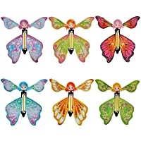 Crazy-Store Magic Butterfly Flying Paper Card Toy Rubber Band Butterfly Fairy Toy Trick