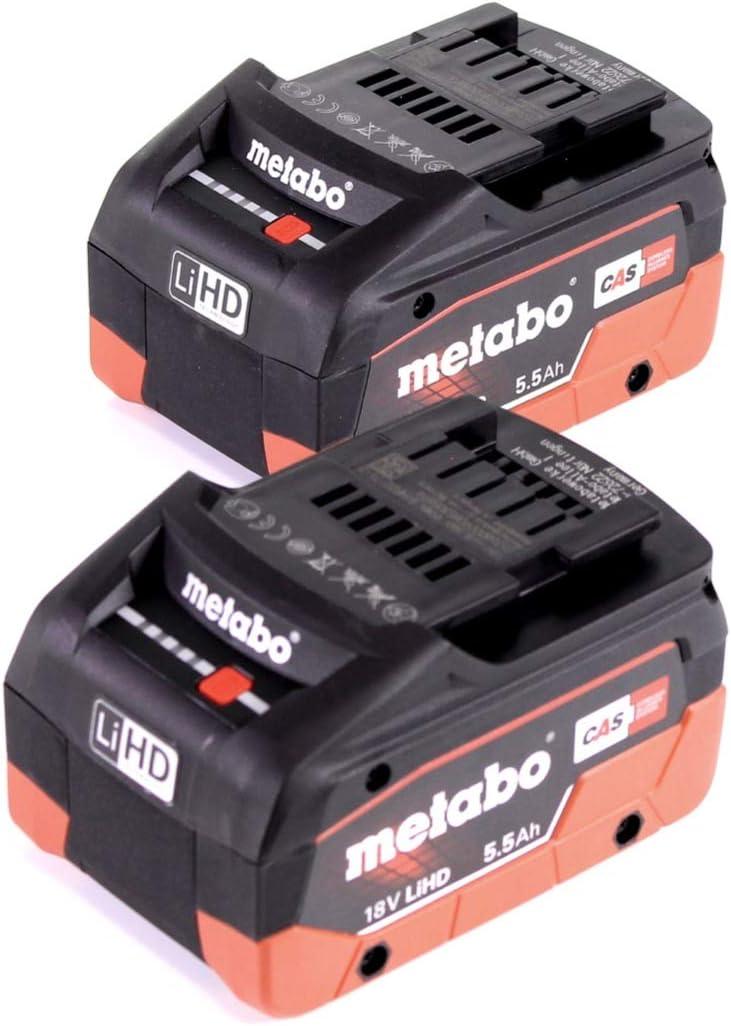 con 2 batterie da 5,5 Ah Metabo 625368000 Batteria LiHD da 18 V