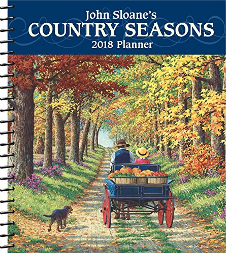 John Sloane's Country Seasons 2018 Monthly/Weekly Planner - Monthly Scenic Desk