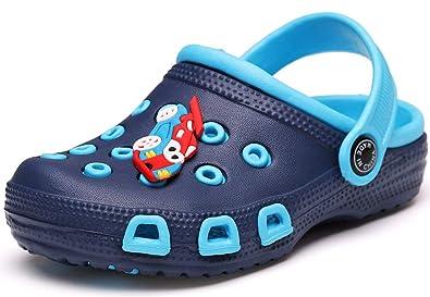 061925b68672d1 Gaatpot Kinder Clogs Pantoletten Mädchen Jungen Sandalen Slip On Outdoor  Flach Hausschuhe Geschlossene Strand Sandale Schuhe