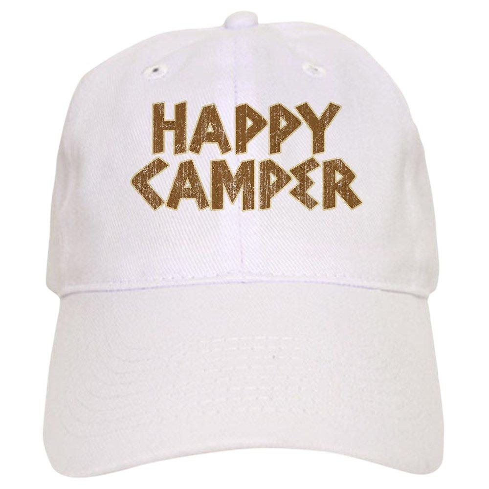 70db3d0cd3bb1 Amazon.com  CafePress - HAPPY CAMPER Cap - Baseball Cap with Adjustable  Closure