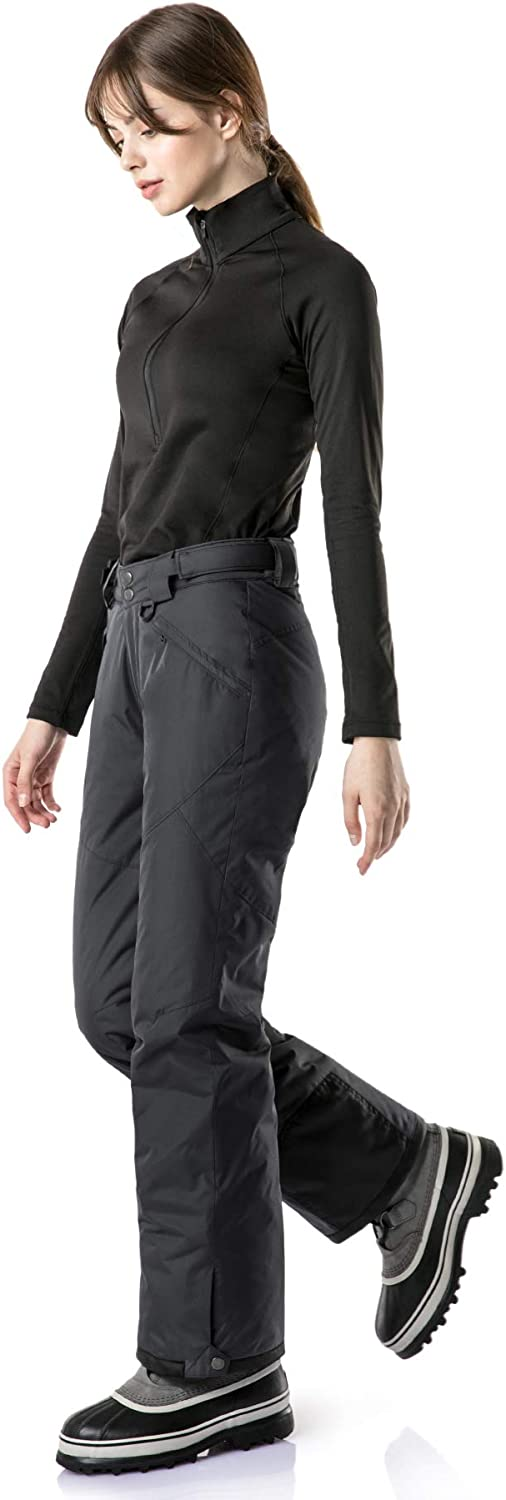 Water-Repel Insulated Ski Pants Ripstop Snowboard Bottoms TSLA Womens Winter Snow Pants