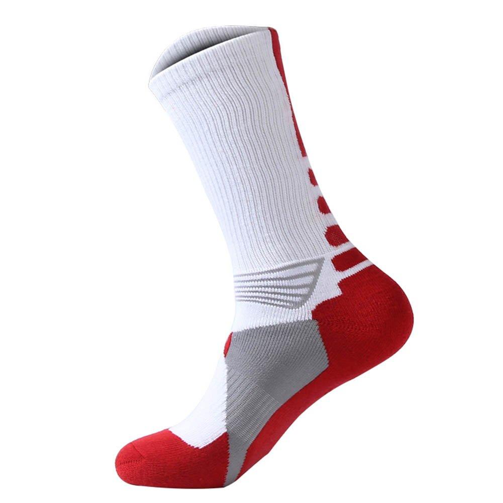 Moresave Hommes Cuissardes longues chaussettes sport de football chaud bas de compression antid/érapants