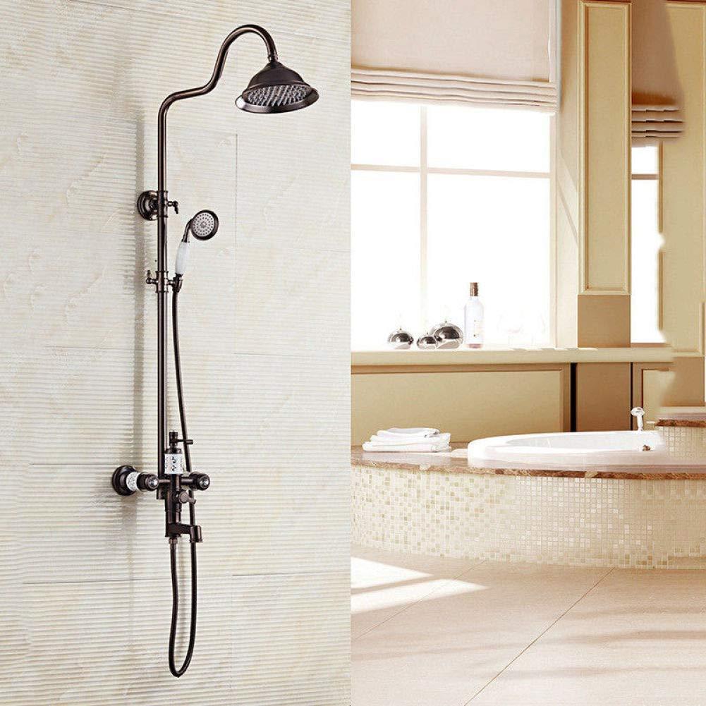 Shower Faucet Set black shower faucets set Matt Black Bathroom faucet Bath Shower Set Brass Shower Faucet
