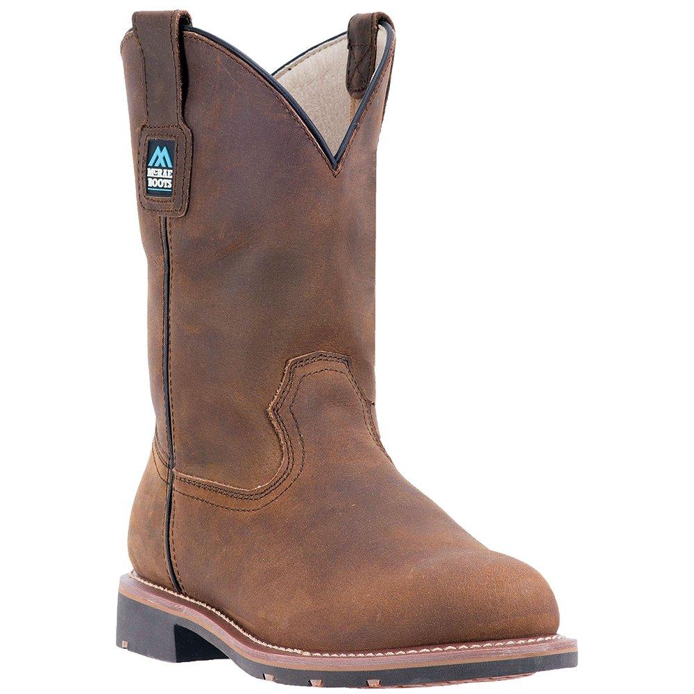 McRae Industrial Men's 11'' Electrical Hazard Pull On Work Boot Steel Toe Brown 12 EE