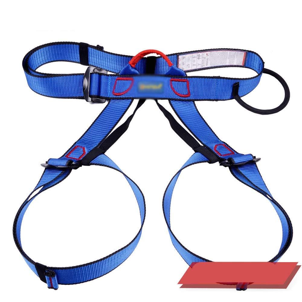 Vfdsvbdv Outdoor Rock Climbing Harness Downhill Equipment Seat Harness Half-Length High-Altitude Safety Harness Insurance Seat Harness Safety Pants (Color : Blue) by Vfdsvbdv (Image #1)