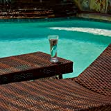 Best Selling 2 Outdoor Adjustable Lounges with Wicker Table