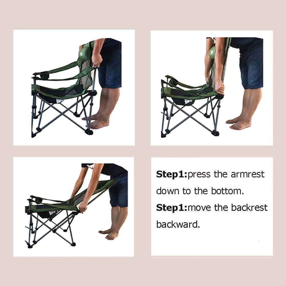 ZXY Multifunction Folding Chairs, Camping Chairs With Foot Rest Outdoor Seat Chair Recliner Leisure Chair,Quickly-fold Chair Oxford Cloth D