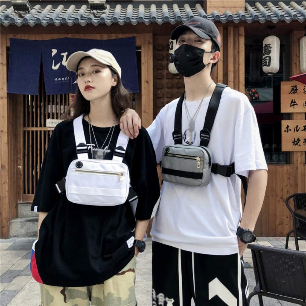 Forart Hommes Femmes Tactical Chest Rig Bag Waist Bag Hip Hop Street Wear Sac /à bandouli/ère Front Waist Pouch