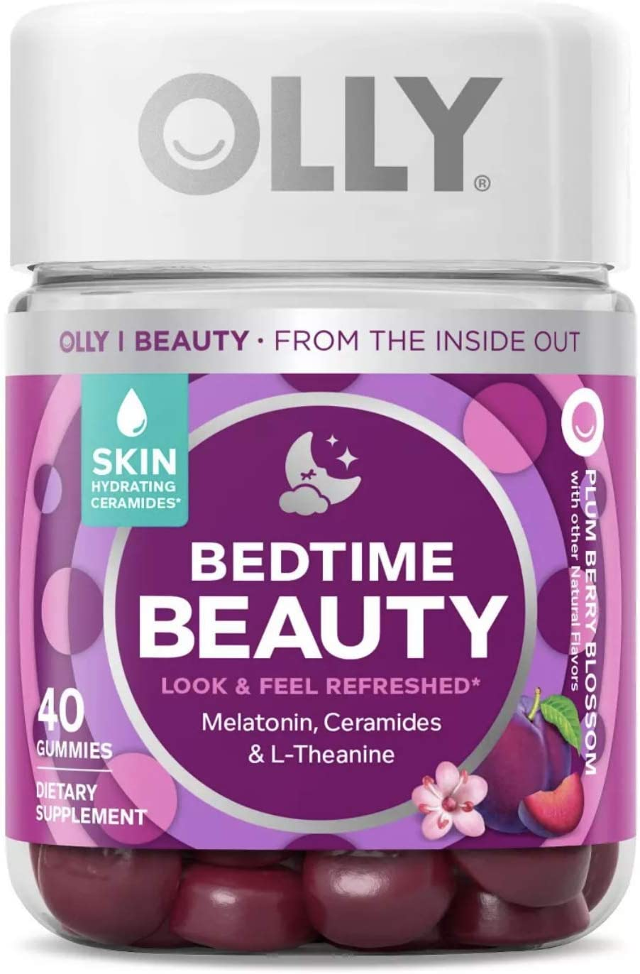 Amazon Com Olly Bedtime Beauty Sleep Gummy Supplement Plum Berry