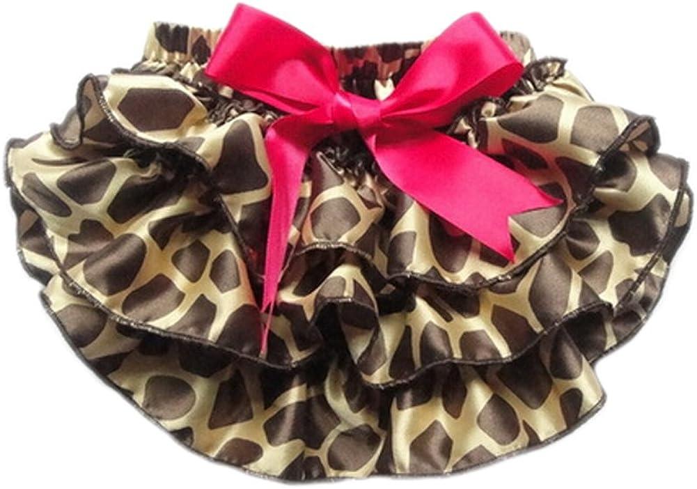 DELEY Neonate di Leopardo Pettiskirt Ruffle di Bloomers Mutandine Pannolino Copertine