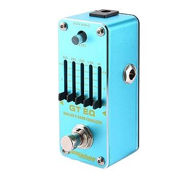 Lorenlli Ajuste Aroma AEG-3 GT EQ Ecualizador de 5 bandas Pedal de efecto de guitarra Mini efecto individual con True Bypass Accesorios para guitarra ...