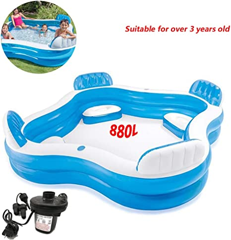 WSN Small Frame Piscinas Hinchables,Swim Center Family Inflatable ...