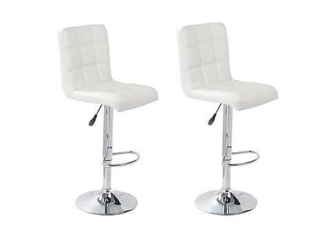 Sgabelli sedia bar e cucina schienale in simil pelle bianca 1