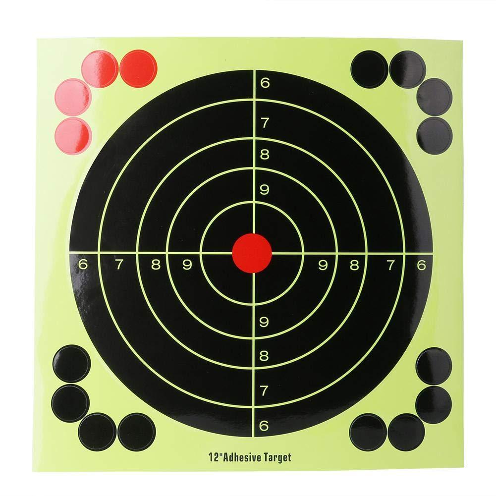 Youn 10 clé s 30, 5 cm adhé sif Pistolet Cible de prise de vue Stickers d'entraî nement Vise les papiers 5cm adhésif Pistolet Cible de prise de vue Stickers d' entraînement Vise les papiers