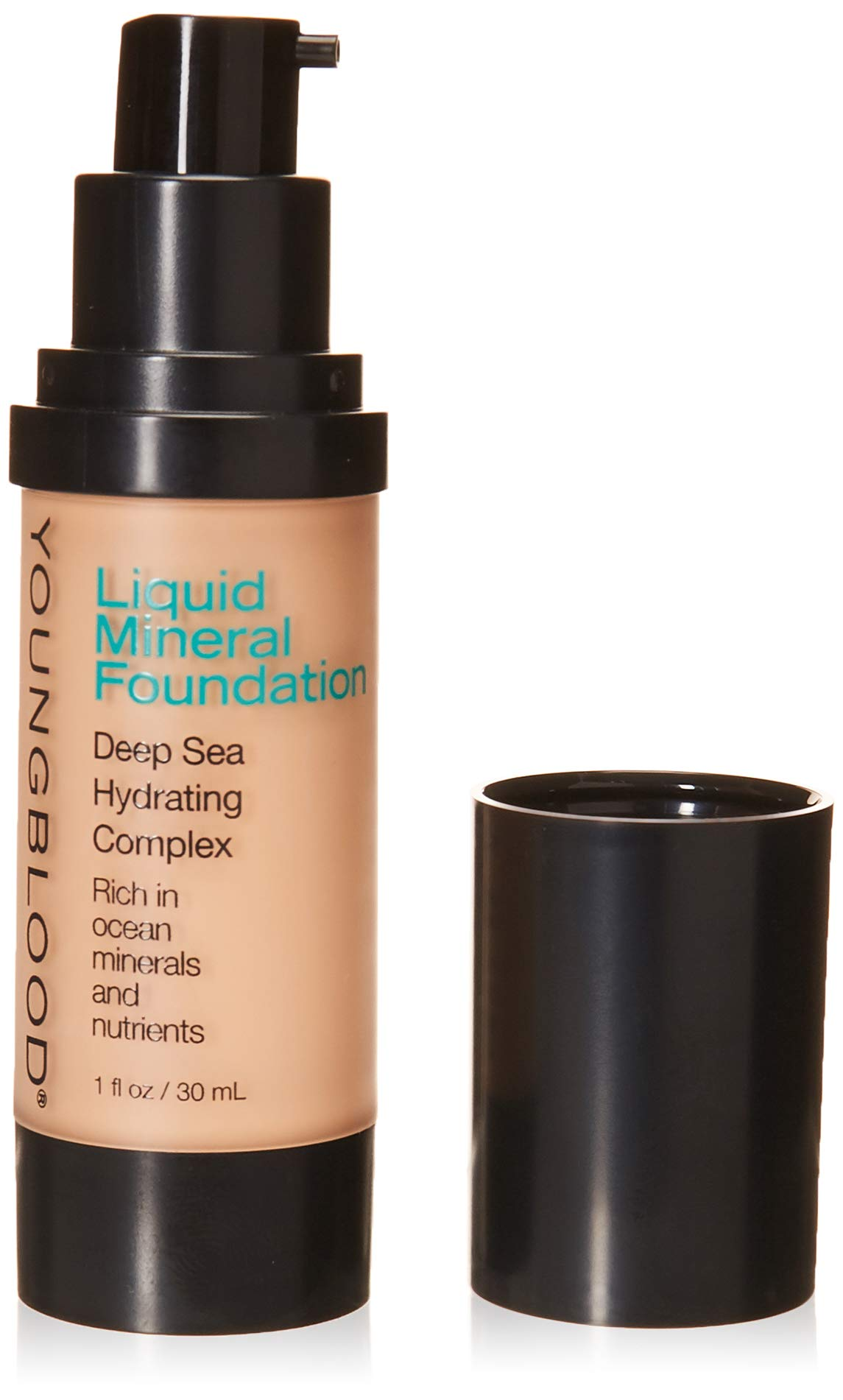 Youngblood Clean Luxury Cosmetics Liquid Mineral Foundation, Pebble | Dewy Mineral Lightweight Full Coverage Makeup for Dry Skin Poreless Flawless Tinted Glow | Vegan, Cruelty-Free, Gluten-Free by Youngblood