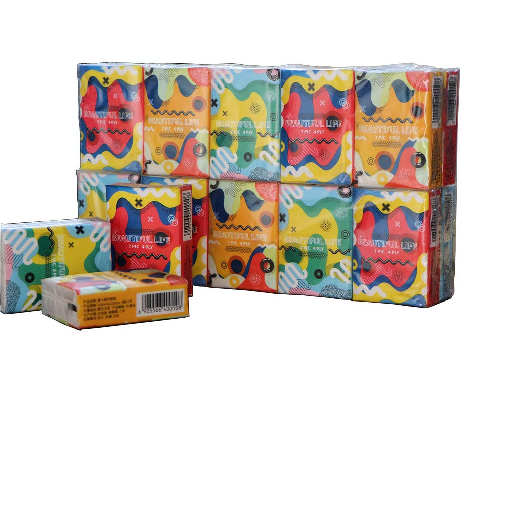 10 packets Perfect for washroom Pocket paper tissues/Soft and strong facial tissue 4 Ply ultra-thick 7 sheets per packet restaurant,home,appointment,school kitchen