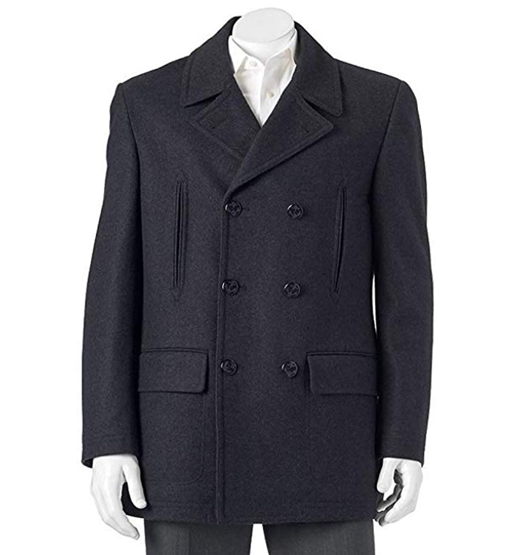 6921dce18b9 Chaps Men s Classic-Fit Double-Breasted Wool-Blend Top Coat (42 Regular) at  Amazon Men s Clothing store