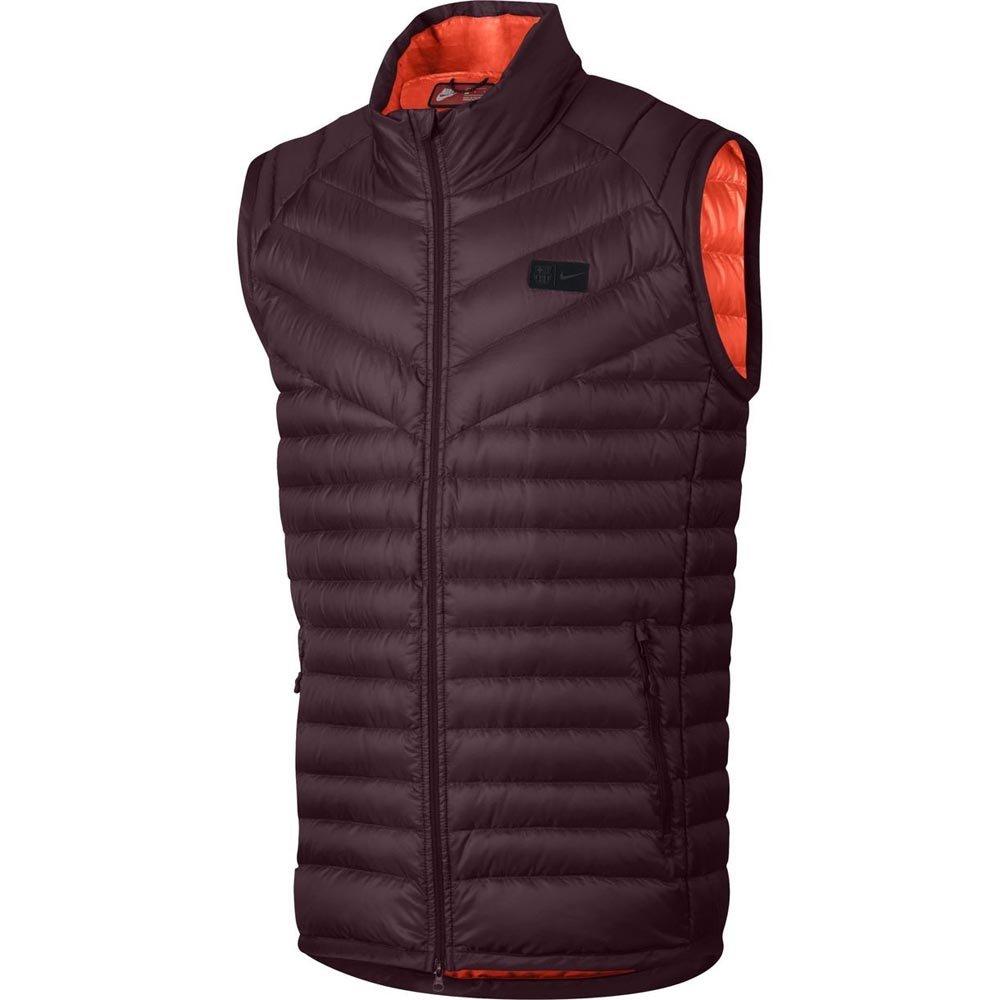 Nike 2017-2018 Barcelona Authentic Down Vest (Maroon)