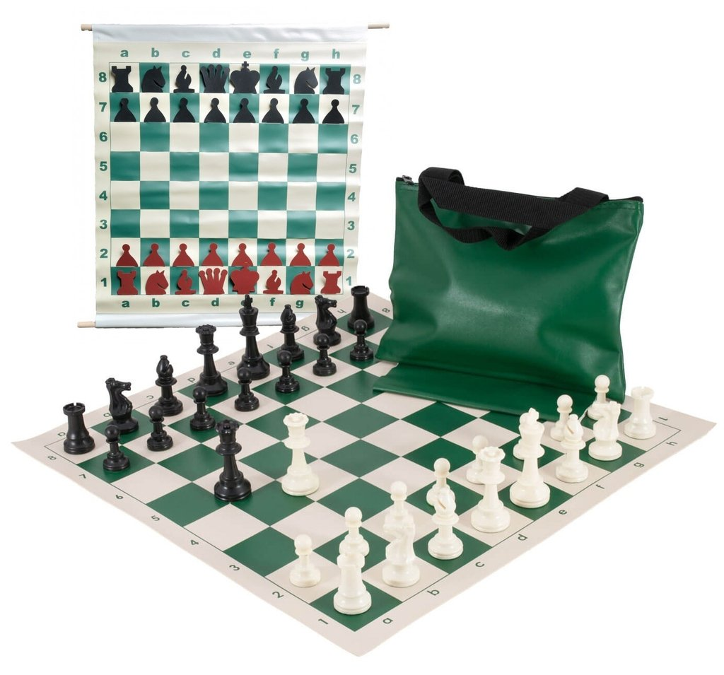 Basic Scholastic Chess Club Starter Kit - For 20 Members - Green - by US Chess Federation by US Chess Federation