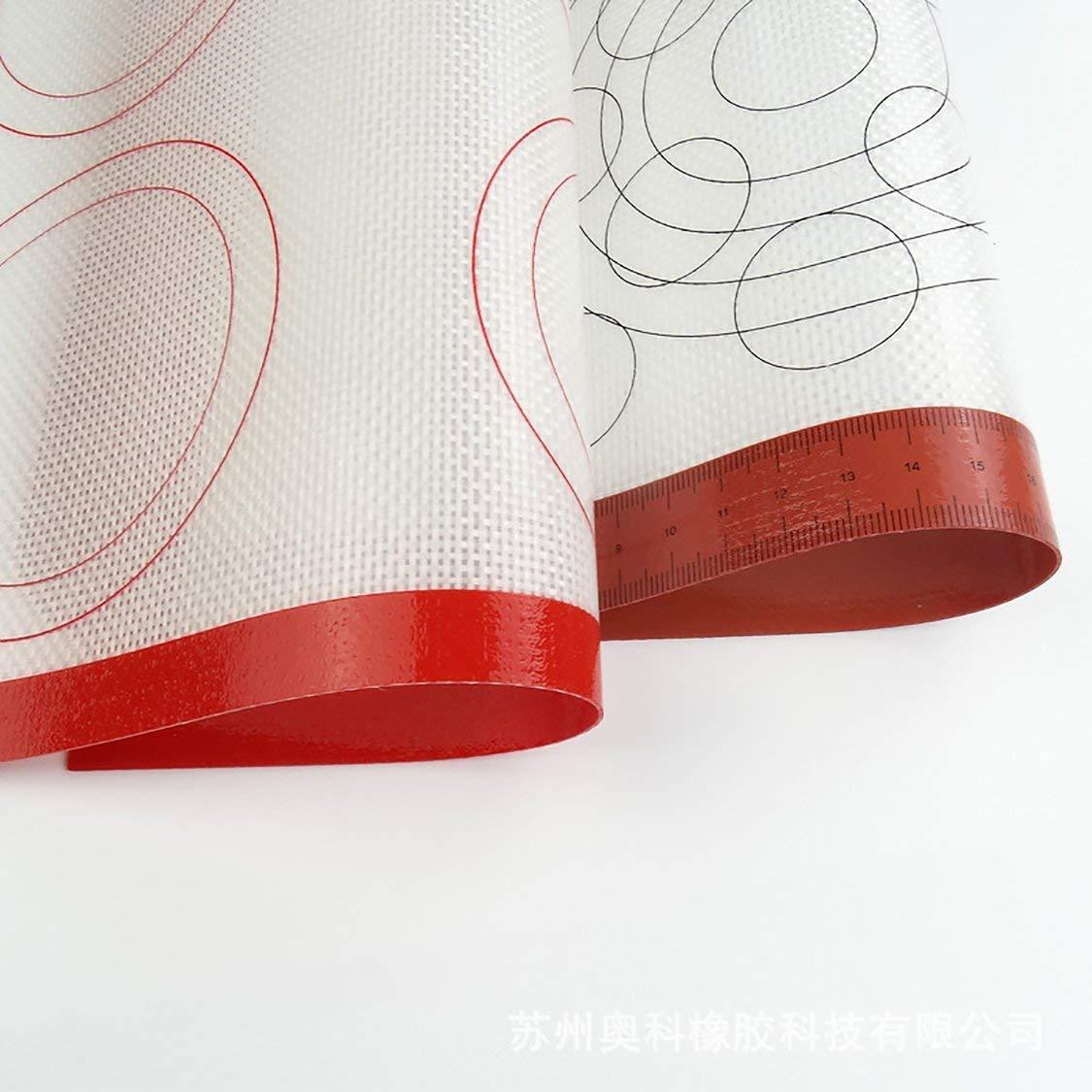 Alfombrilla antiadherente de silicona para hornear Macaron Antiadherente C/írculo Macarr/ón Almohadilla Hoja Cocina Rolling Dough mat Liner Tool