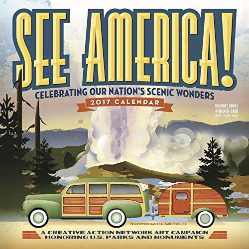 See America! Wall Calendar 2017 cover
