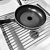 "Roll up Dish Drying Rack-17.9"" (L) x 14"" (W) -over"