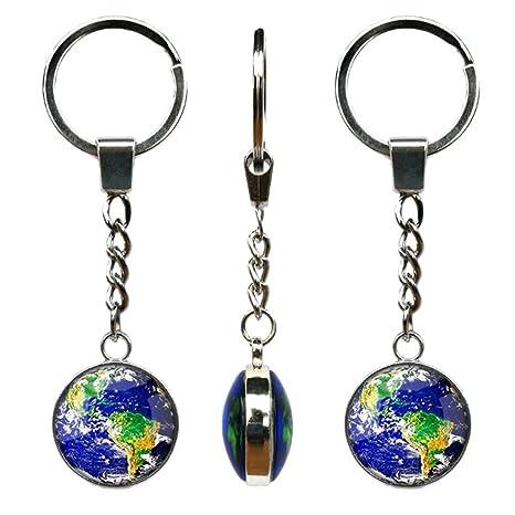 Amazon.com: Planeta Tierra Globo de llavero, llavero, cúpula ...