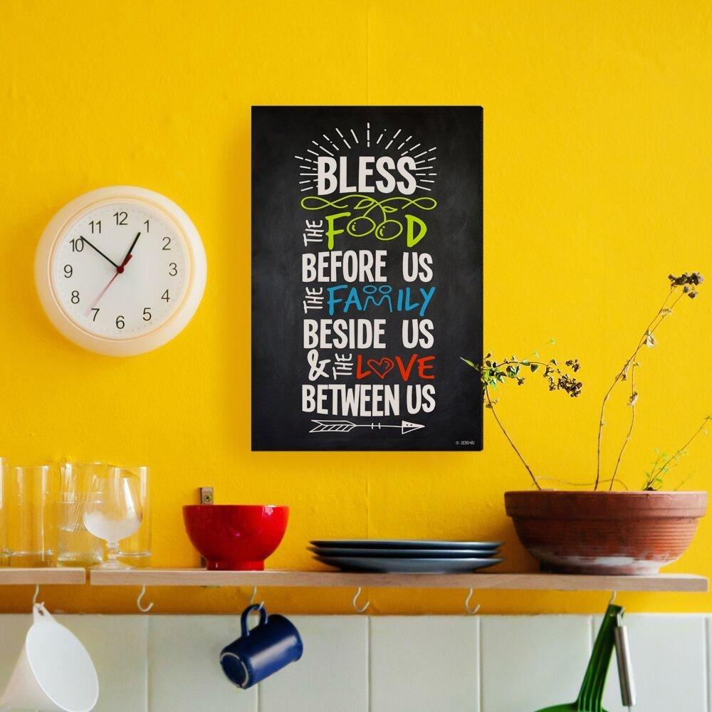 Amazon.com: ZENDORI ART \'Bless The Food Before Us\' Family Rules Wall ...