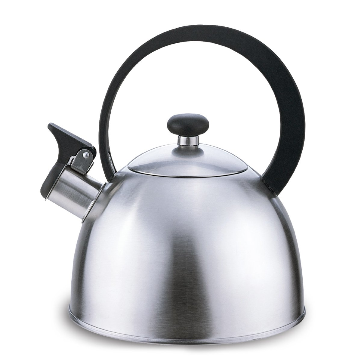 Riwendell Stainless Steel Whistling Tea Kettle 2.7-Quart Stove Top Kettle Teapot (Silver)